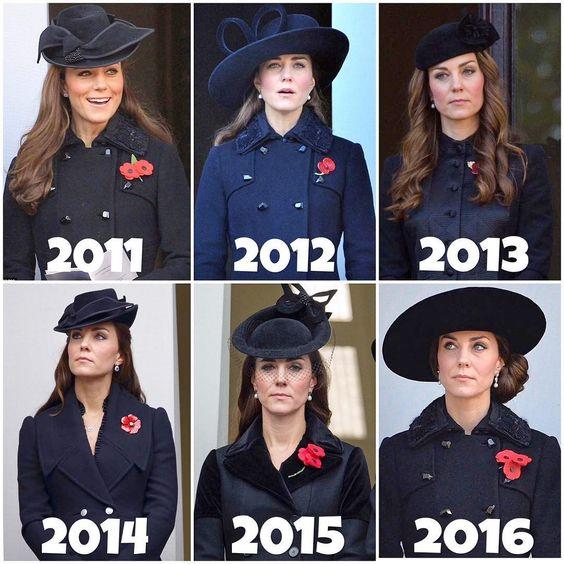 衣服变化不多,时髦全靠帽子