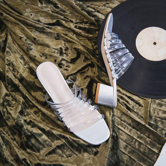 透明穆勒鞋