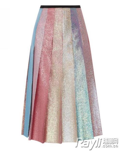 Gucci金属丝面料半身裙