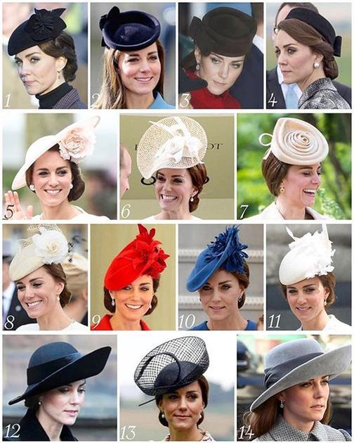 凯特王妃帽子一览