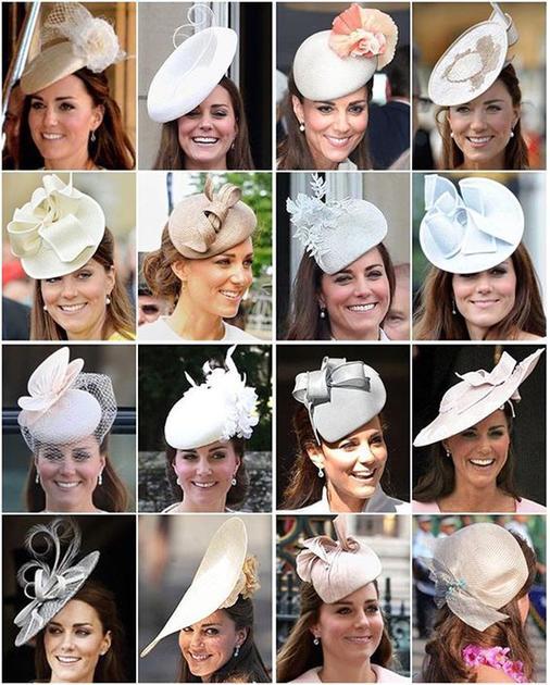 凯特王妃浅色系的帽子