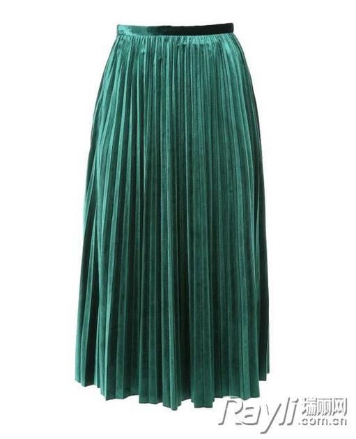 MO&Co.丝绒百褶半身裙 899 RMB