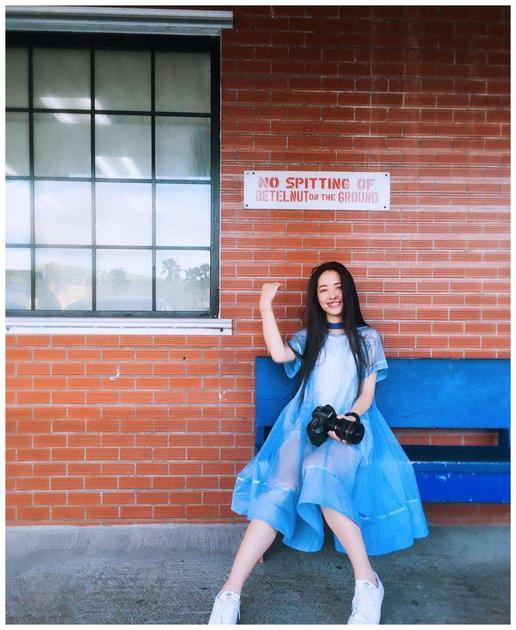郭碧婷穿长裙