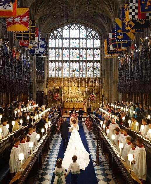 尤尼金公主(Princess Eugenie)与未婚夫Jack Brooksbank举行婚礼
