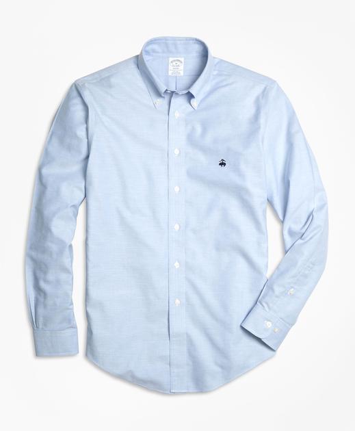 简约又不失优雅的经典免烫牛津纺扣领长袖衬衫