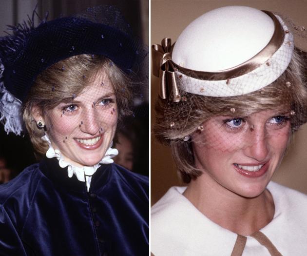 戴安娜戴面纱帽