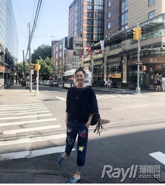 刘雯私照街拍