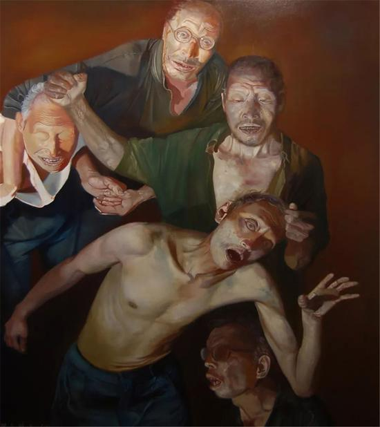 梁昊鹏 鲁迅美术学院油画系副教授,不是我 150×90cm 布面油画 2008