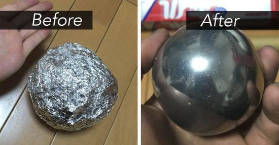 网友@puchuco709 制作的铝箔球