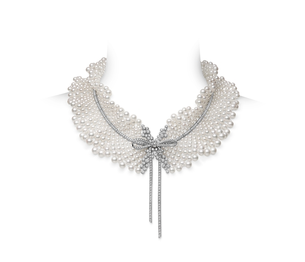 MIKIMOTO Jeux de Rubans 缎带之舞系列项链 18K白金日本Akoya珍珠项链配钻石 RMB 21,000,000 (WG08885GZ 珍珠直径约: 3.00mm-8.00mm ;Total 1,059 pcs ; 钻石总重约16.13ct)