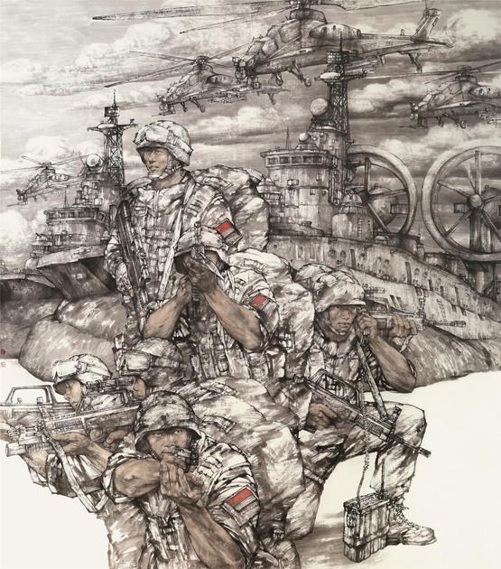 《战之必胜》 190cm×240cm 2014年