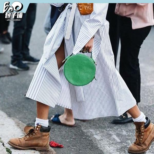 圆形绿色包包