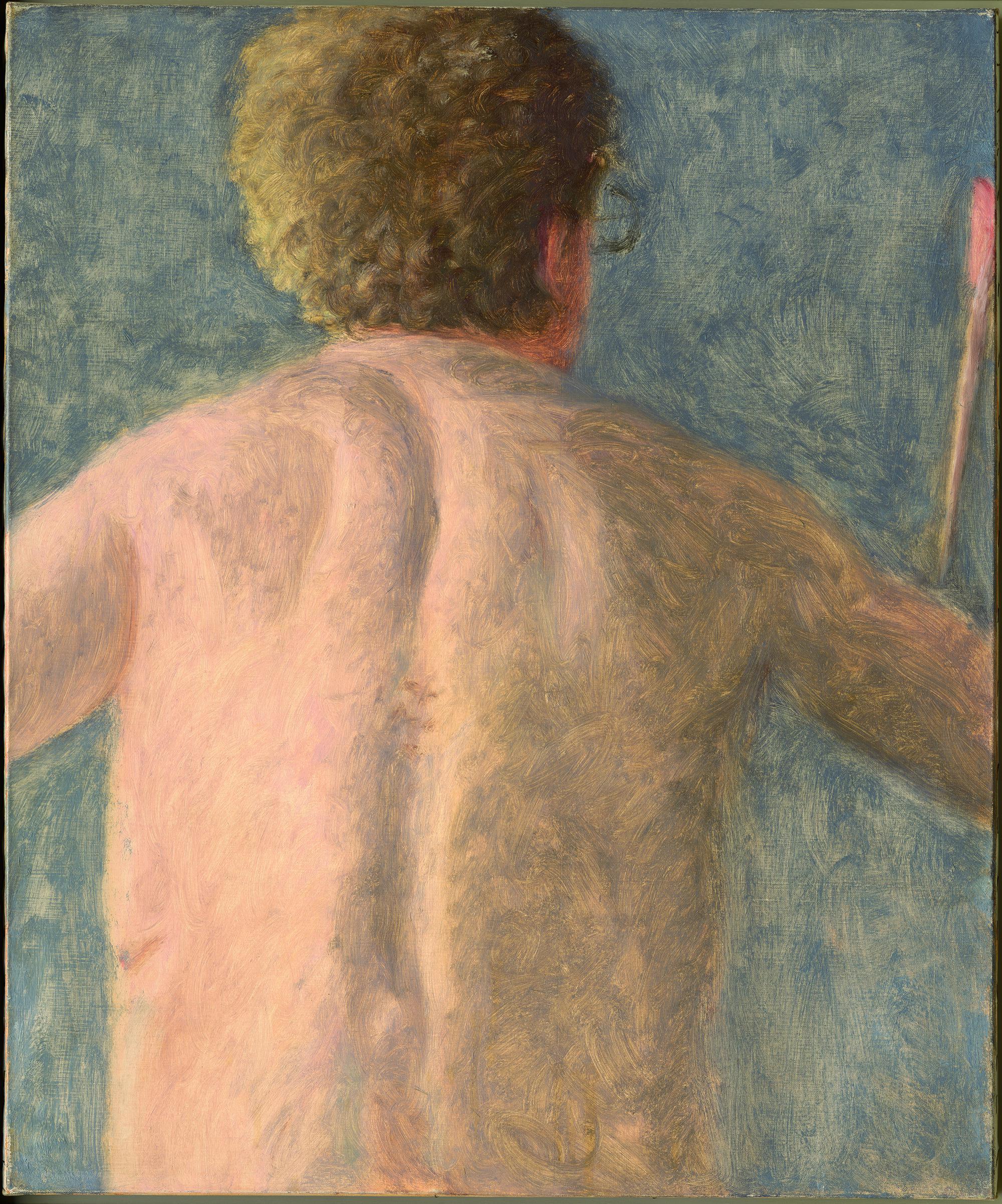 背部自画像,阿维格多·阿利卡,布面油画65×54cm,1981