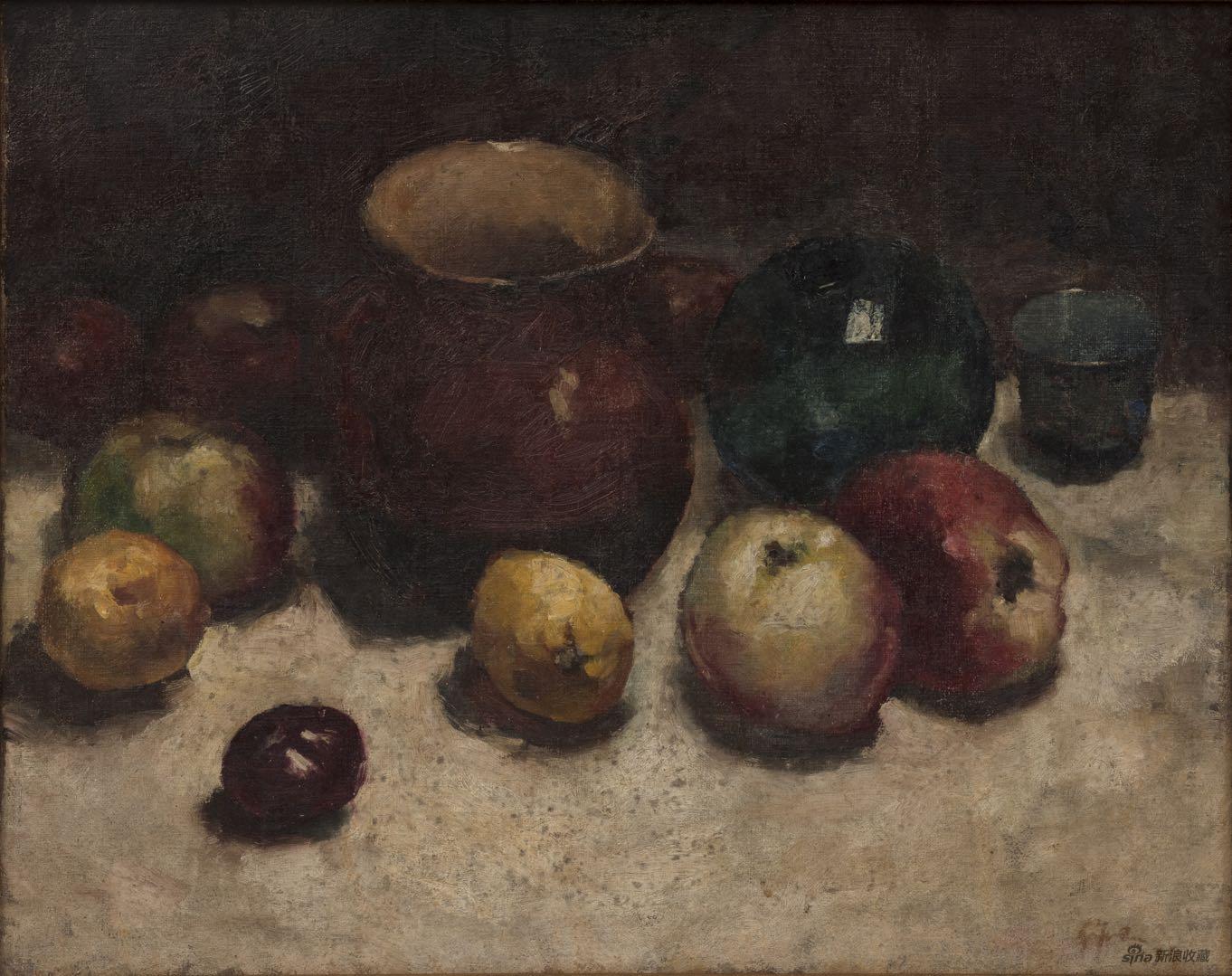 吴作人Wu Zuoren,静物Still Life,布面油画Oil on Canvas,45X55cm,1934