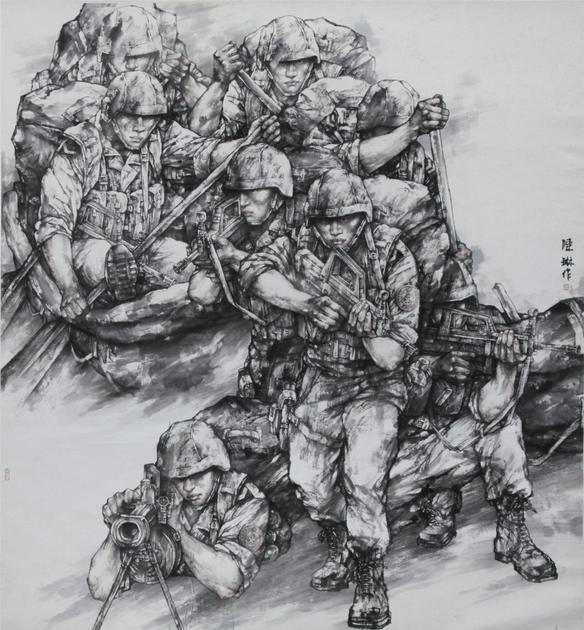 《陆战队员》 200×200cm 2007年