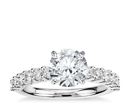 Luna 钻石订婚戒指,铂金