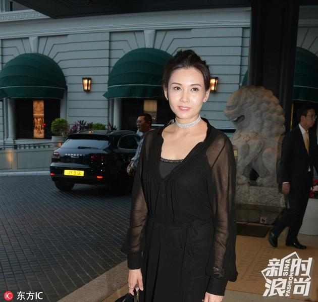 2017年4月18日,香港,众星现身郭富城婚礼。邱淑贞