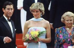 戛纳红毯终有一帧属于戴安娜王妃