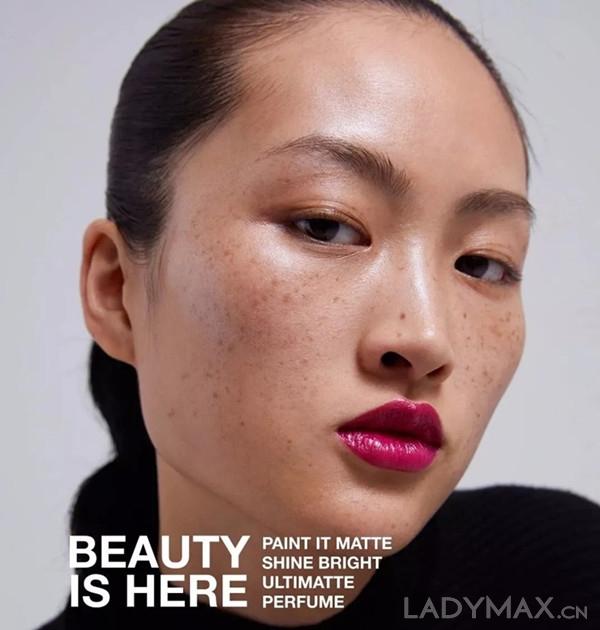 Zara新彩妆产品的宣传照