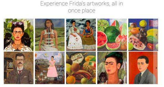 Faces of Frida 部分展览。