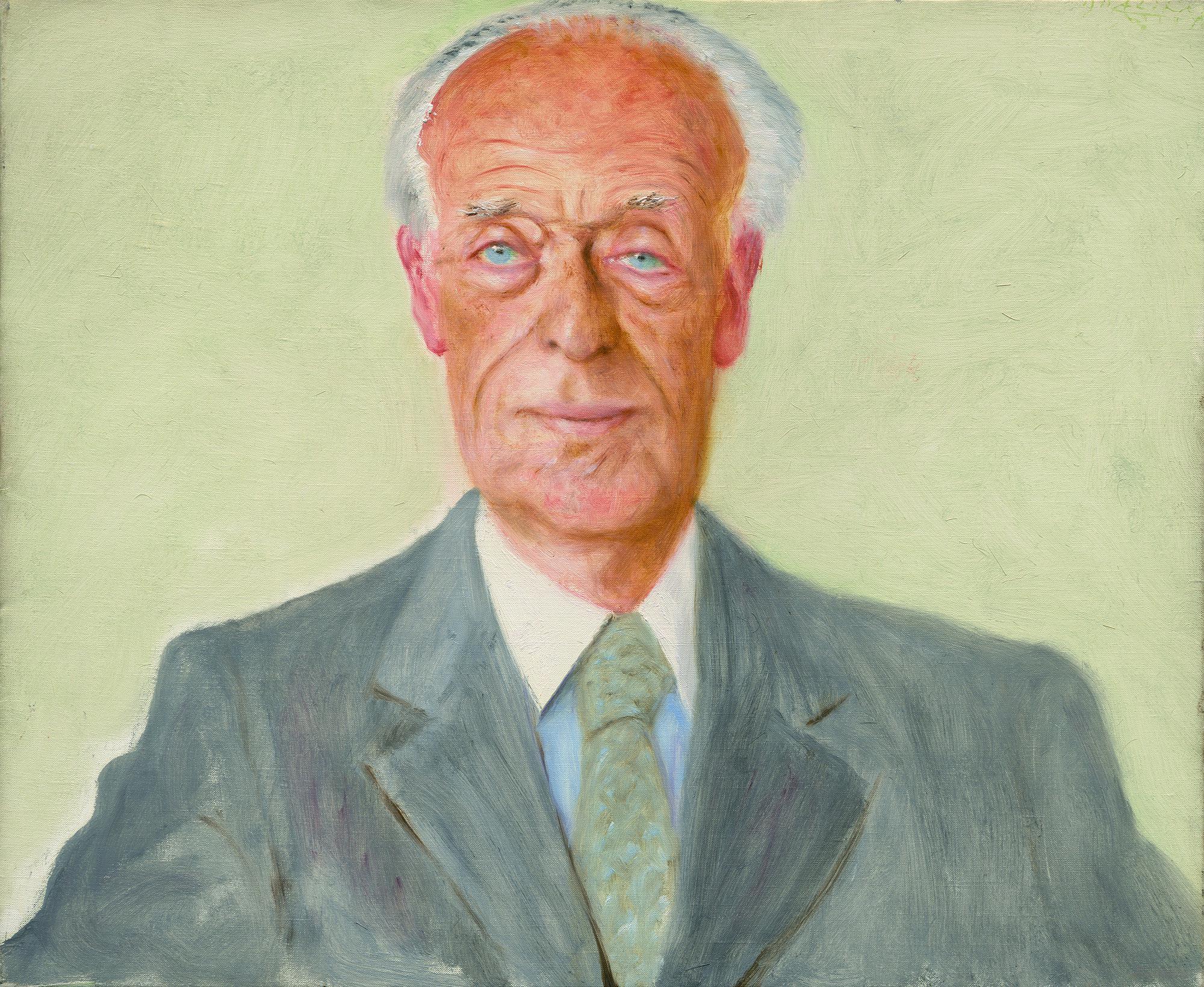 盖伊·罗斯柴尔德像,阿维格多·阿利卡,布面油画36×46cm,1990