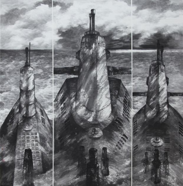 《历程―潜艇》(合作)200×200cm 2016年