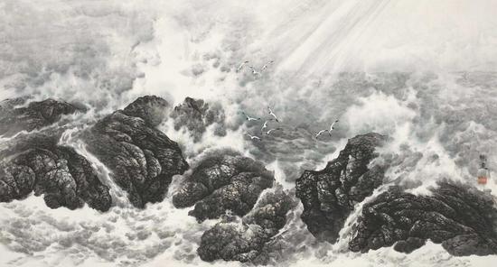 宋明远 激情澎湃 1997年 173.1x92.5cm