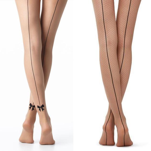 一条线裸色丝袜