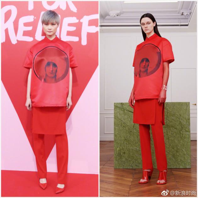 秀前红毯,李宇春一身Givenchy红装也格外出众