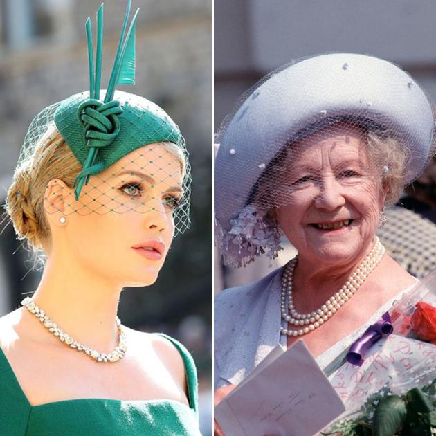 戴帽子的英国女士