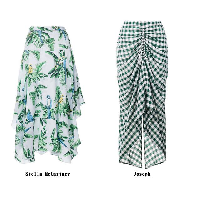 Farfetch 绿色印花裙