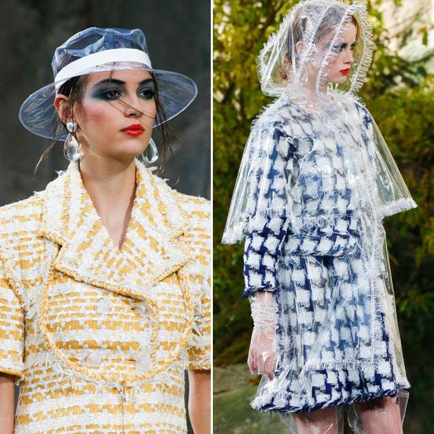 Chanel透明雨帽和雨衣