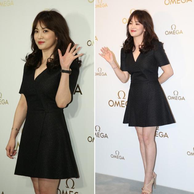 宋慧喬穿黑色連衣裙
