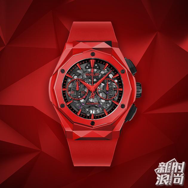 HUBLOT宇舶表经典融合系列奥林斯基红色陶瓷限量版腕表