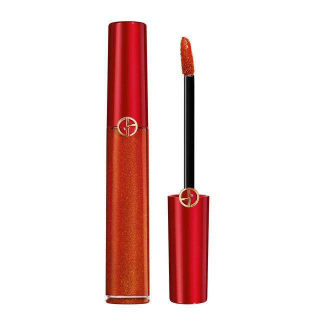 阿玛尼琉金红管唇釉 #405G 金闪番茄红