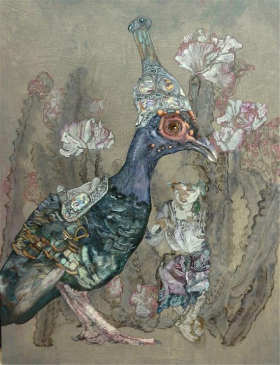 《丛林奇怪录》150x115cm 2011年 布面油画