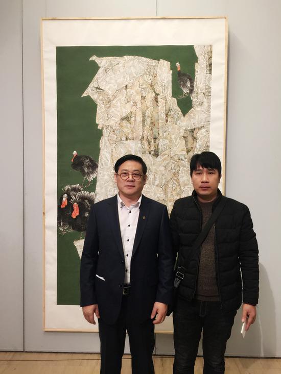 与中国美术家协会分党组书记、驻会副主席、秘书长徐里先生在中国美术馆