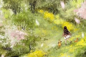 画风堪比宫崎骏 她画的独居女孩击中你柔软的心