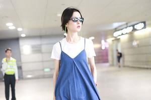 倪妮杜鹃穿的蓝为什么比你的好看