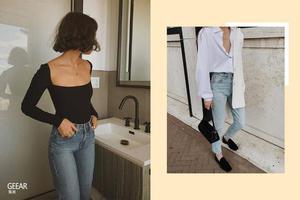 紧身牛仔裤不只是懒人穿搭!6件单品让单调造型不平凡