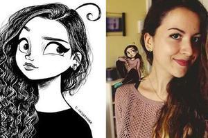 插画师画出女生的尴尬日常 吸粉两百万