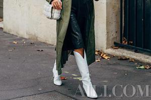 今秋靴子的长度怎么选才最恰当 请用一双膝下靴抗寒吧