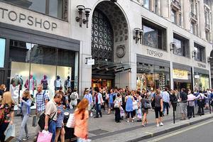 作为资产担保的Topshop伦敦旗舰店贷款到期 债务逾3亿英镑