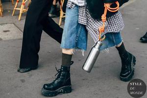 Angelababy走哪都穿系带马丁靴究竟有多好穿