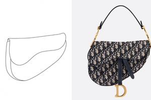 于20年前首次推出 Dior就马鞍包外型申请商标专利