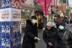 疫情之下韩国明洞昔日风光不再 近三成商铺空置