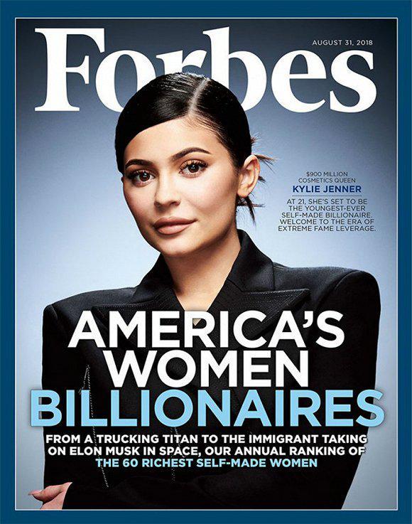 Kylie Jenner 最近登上了《Forbes》八月刊的封面