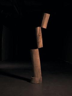 《不平衡的稳定NO.10》 樟木│205x35x35cm│2019