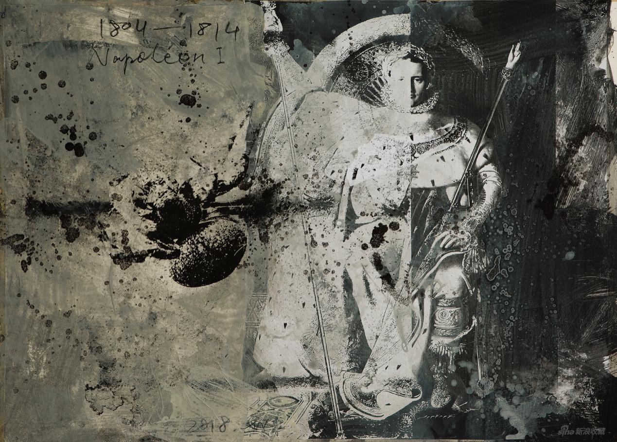 拿破仑 管策 纸上综合材料 90 × 67.5 cm 2018 图片:黄盒子美术馆