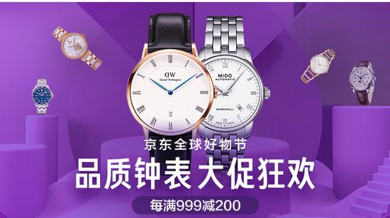 京東雙十一腕錶活動頁面